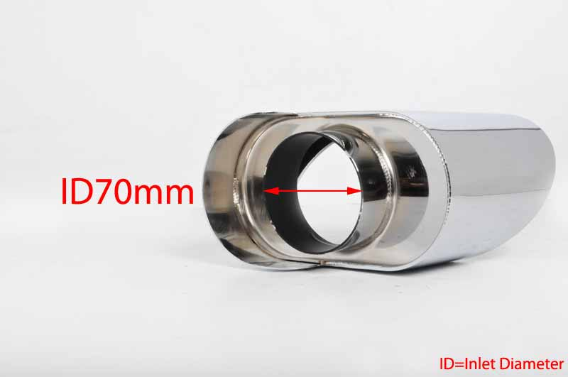 Universal Stainless Steel Exhaust Tips Trims BMW X5 E70 Look