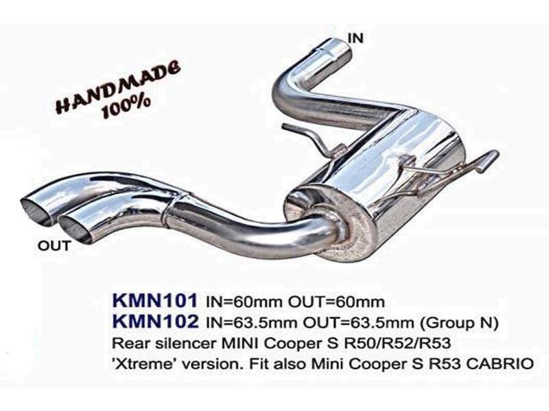 mini hatch hardtop mk1 r50 r53 00  06 mini cooper s silencieux arri re d chappement xtreme
