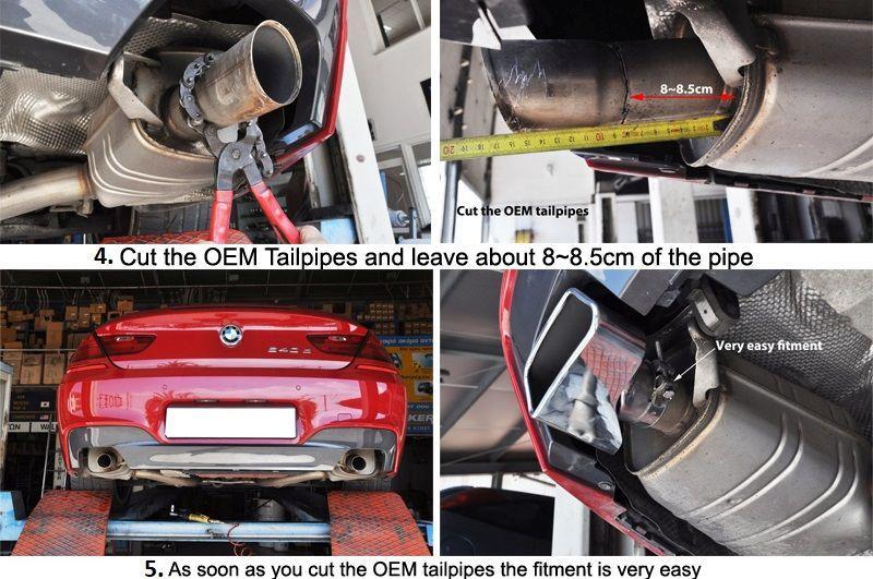 BMW F10 F11 F12 F13 535i 535d 640i 640d Exhaust Tips Trims