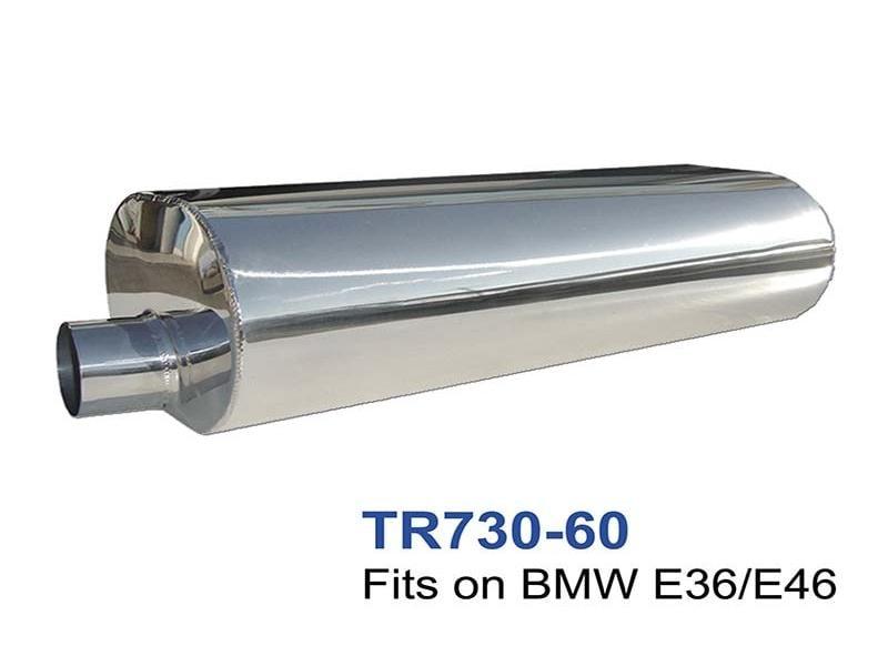 BMW E36-E46 Acier Inoxydable Silencieux Échappement Ovale 210x148 L500 60mm